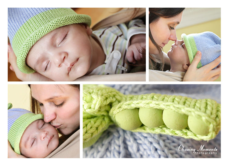 collage of portraits of baby and mom