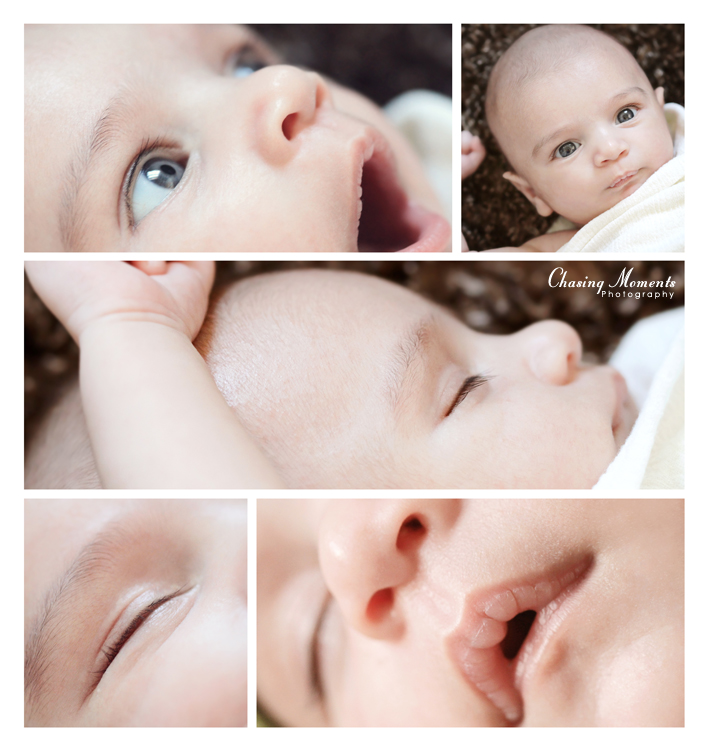 color collage of details and portraits for baby in Arlington