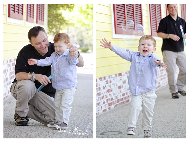 Fairfax Corner Family Session: Toddler Playing with Dad