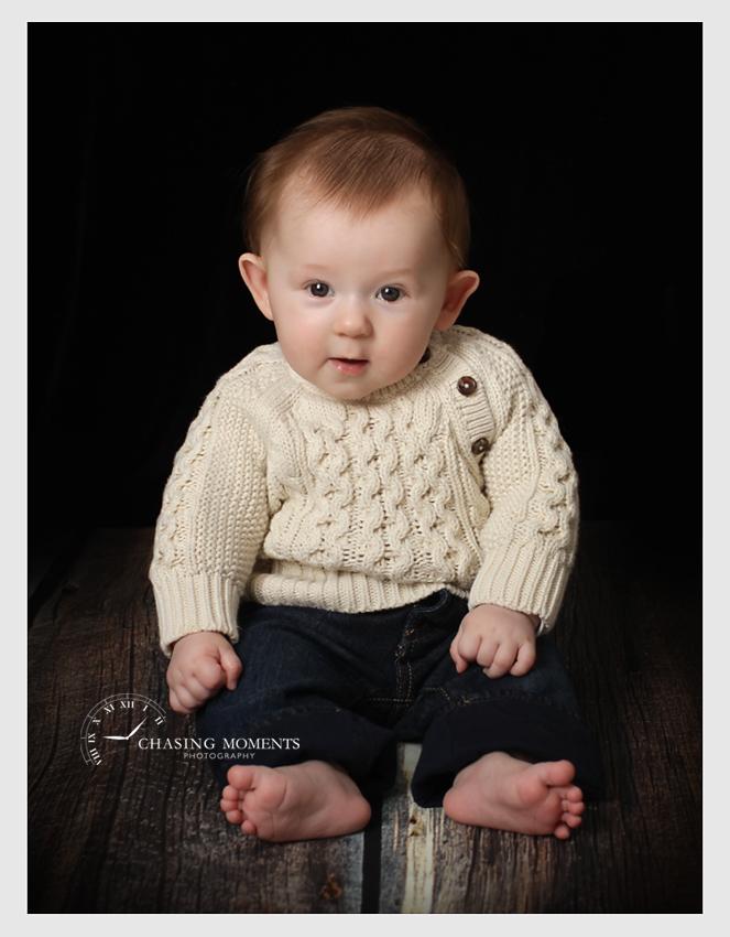baby boy sitting, professional studio photography in alexandria va