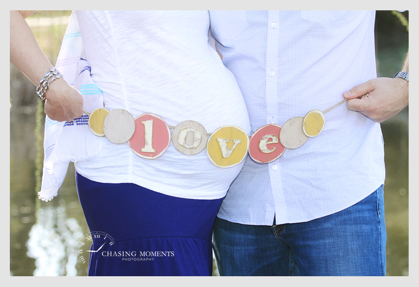 word love pregnancy belly photo session